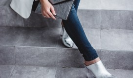 Silver Mules And Skinny Jeans