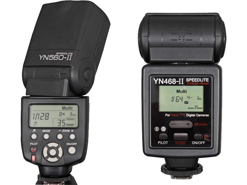 The new Yongnuo flashes YN560-II and YN468-II