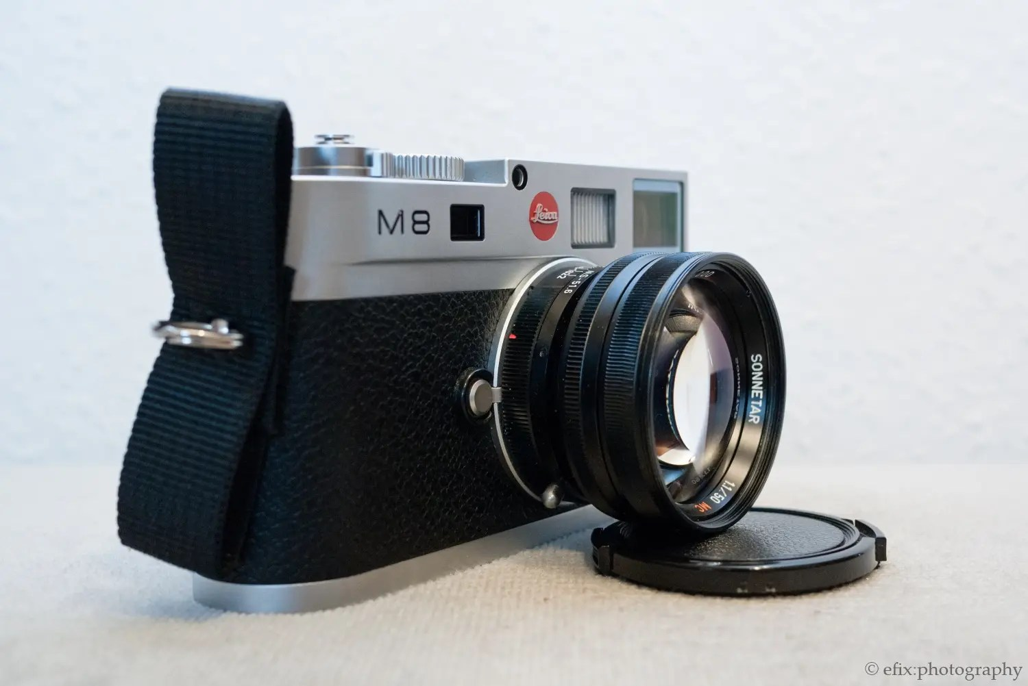 The MS-Optical Sonnetar 50/1.1 on the Leica M8. The lens is surprisingly small for its focal length and speed.