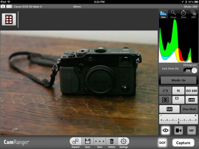Built-in Depth of Field preview is also nice (provided you have enough light on your subject)