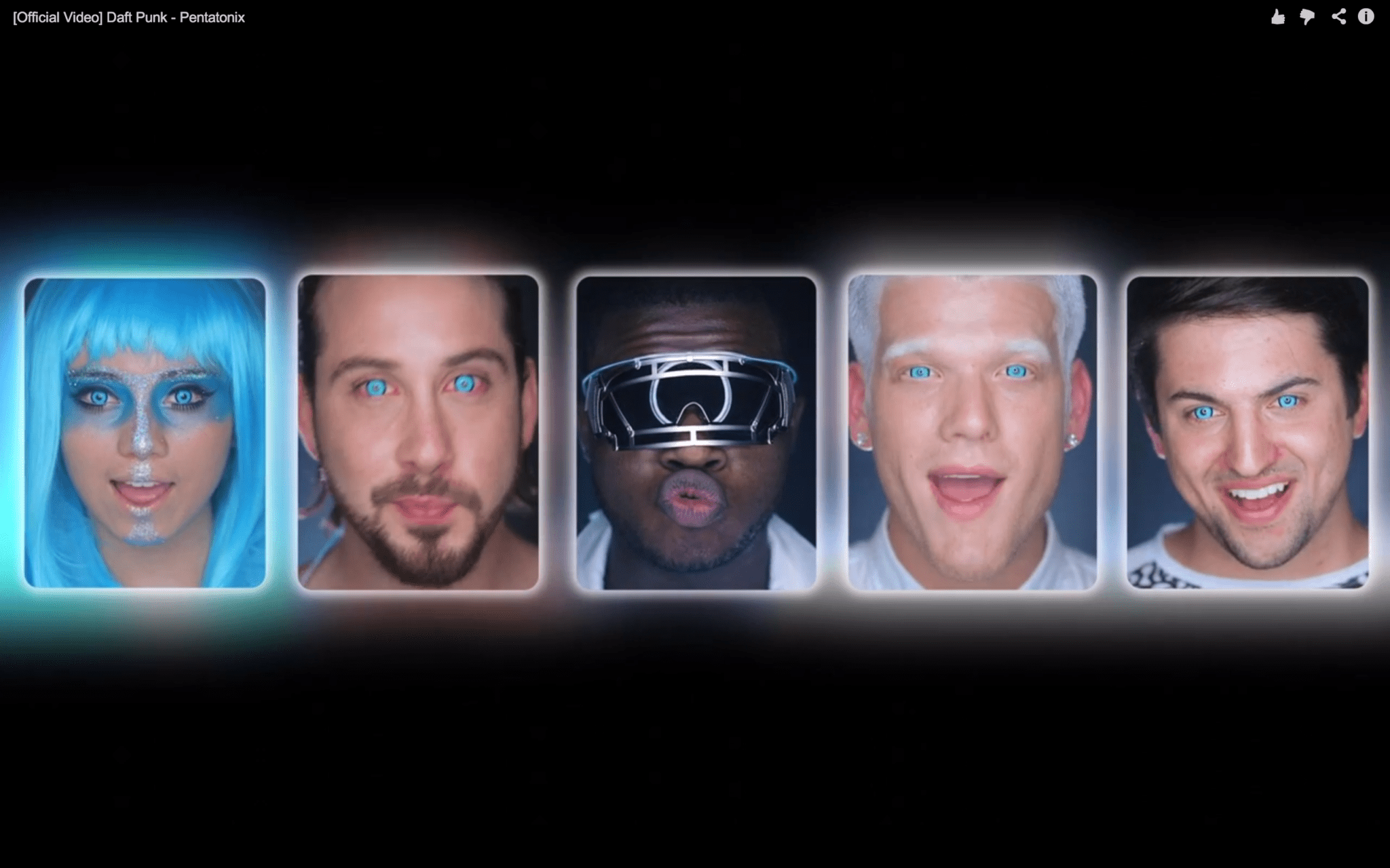 this pentatonix video cover of daft punk songs uses a ring
