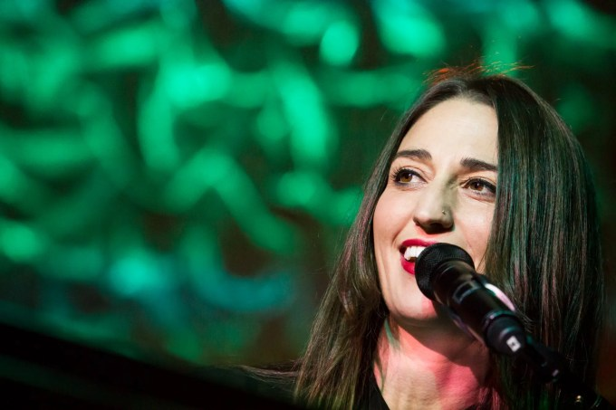 Sara Bareilles playing for a sold out crowd at The Pageant in St. Louis on October 16th, 2013.