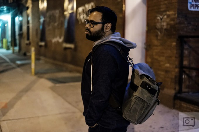 Chris Gampat The Phoblographer QamaySF All In One Waxed Canvas X Grid Bag review product images extra wearing images (3 of 3)ISO 80001-80 sec at f - 1.4