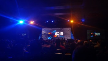 The plenary sessions for SC15 were like rock concerts.