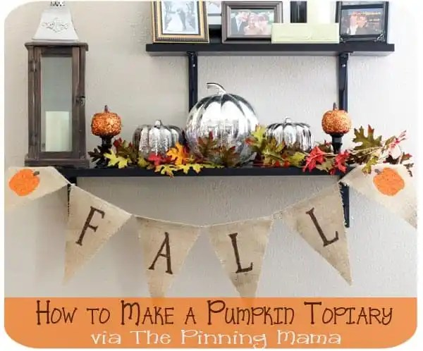How to make pumpkin topiaries www.thepinningmama.com