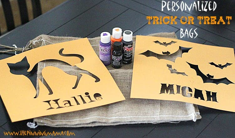 Make this EASY Personalized Halloween Trick or Treat Candy Bag for under $5!
