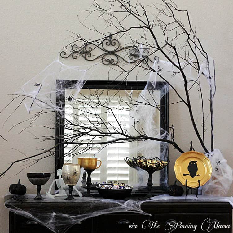 Creepy Candy Buffet with Martha Stewart Decoupage by www.thepinningmama.com