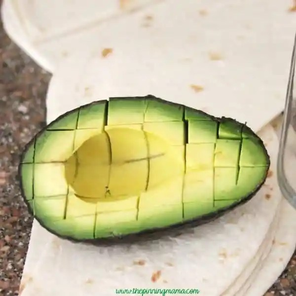 Easy Diced Avocado