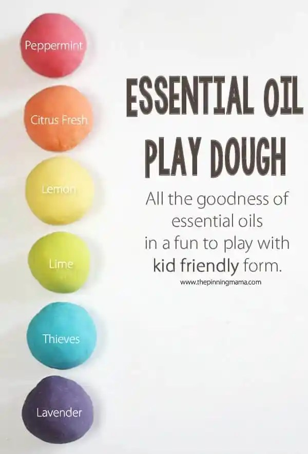 My favorite Play Dough Recipe! Essential oil play dough from thepinningmama.com