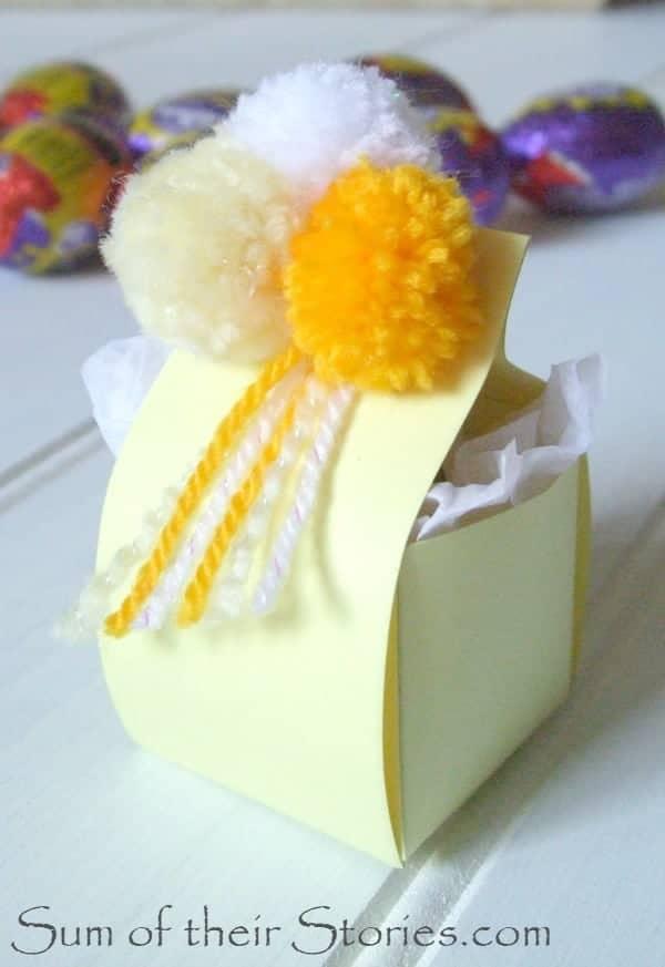 easter egg box pom poms
