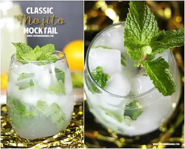 This Classic Mojito Mocktail recipe is easier to make than you might think and SO delicious! Make a lot because your party guests will LOVE it!