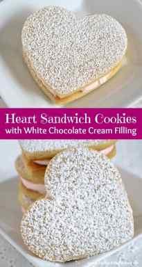 Heart Sandwich Cookies | The Pinning Mama
