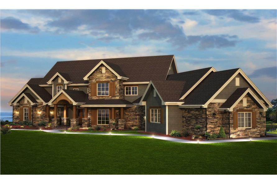 Traditional Style Home Floor Plan  161 1003   Six Bedrooms  161 1003      6 Bedroom  5164 Sq Ft Country Home Plan   161 1003   Main