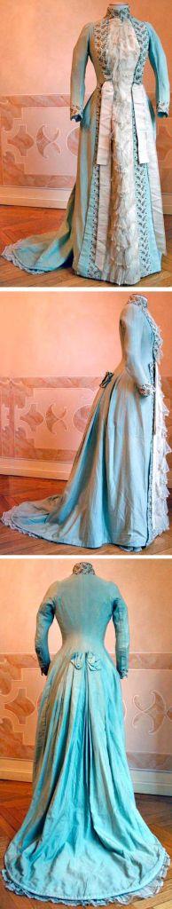 tea dress blue