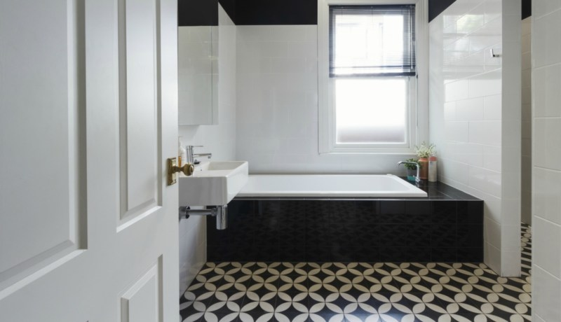 Large Of Black And White Bathrooms