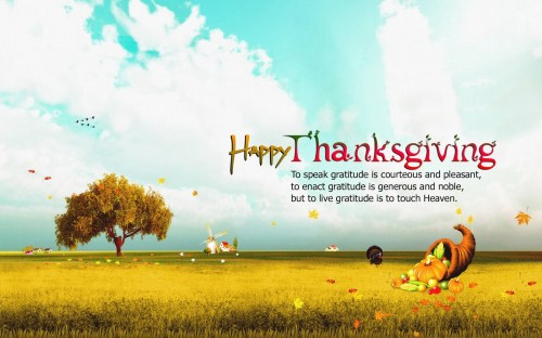 Medium Of Happy Thanksgiving Message