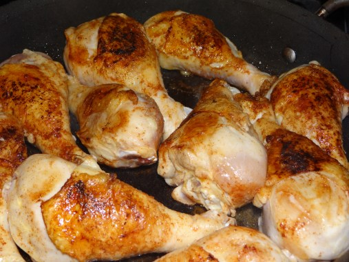 Turn the chicken in the skillet until each side looks lovely and golden brown just so.