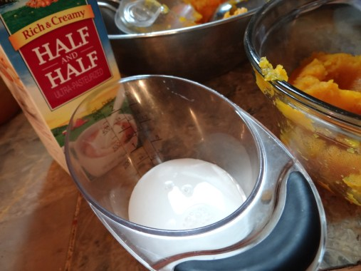 Add in 1/2 cup of half and half.