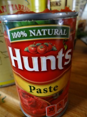 Now add in some tomato paste.