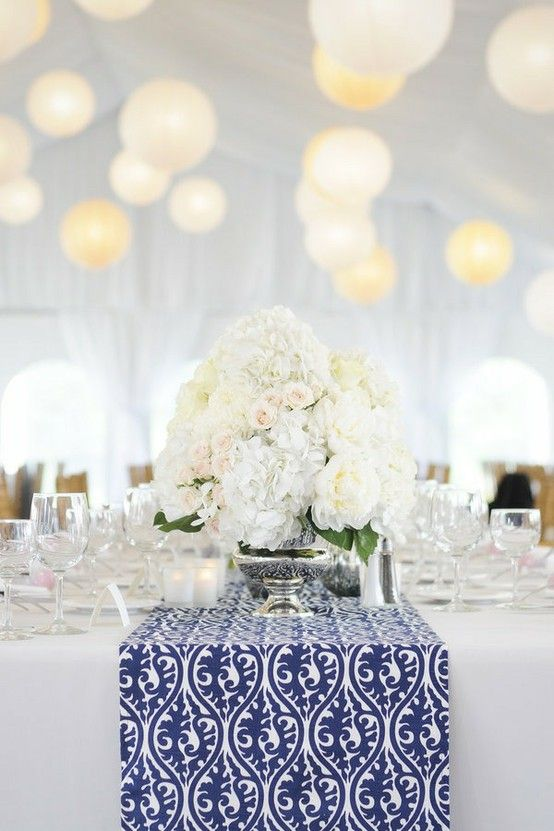 Blue and White Tablescape via Pinterest