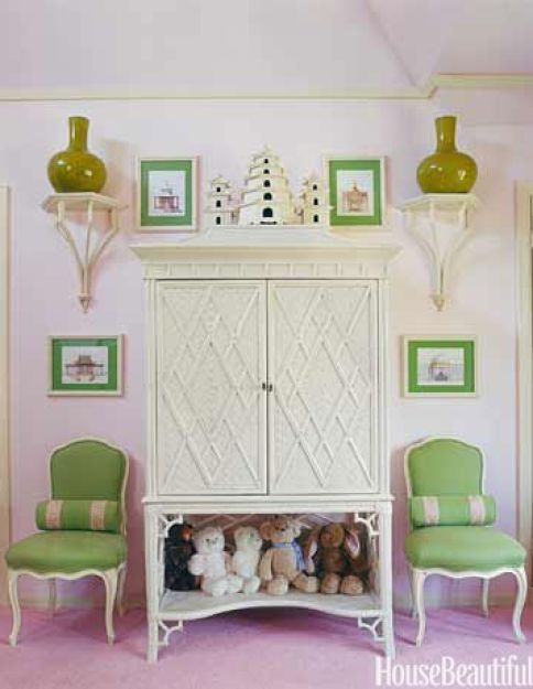 Green and Pink Girls Room HB