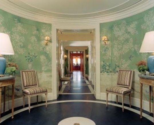 Tory Burch's green wallpaper