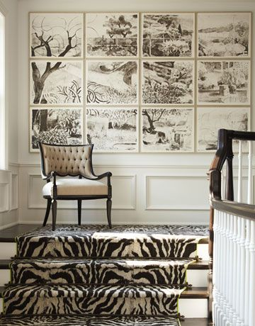 Zebra and Gallery wall via Pinterest