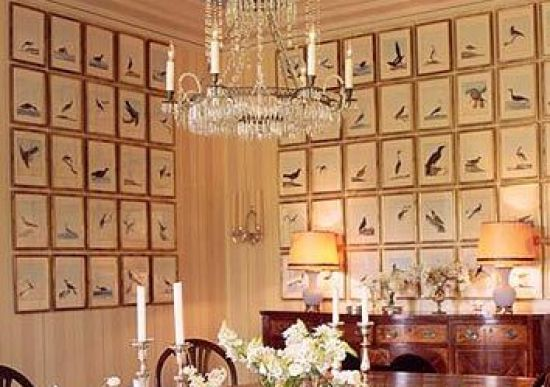 A very gorgeous gallery wall in dining room via Mark D SIkes