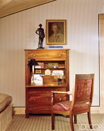 Antique Desk in Charlotte Moss' Aspen Home