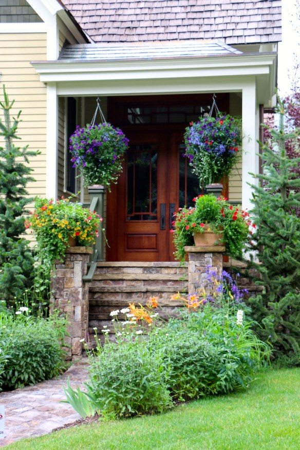 Aspen Porch with pretty flowers