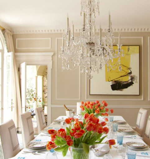 Danielle Rollins dining room at Boxwood