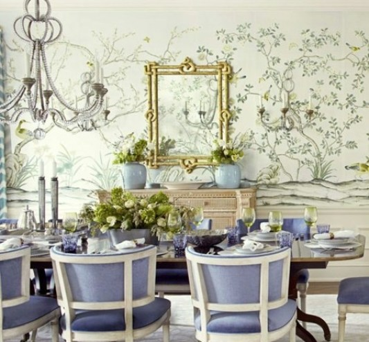 Dining room with Gracie via a little book of secrets