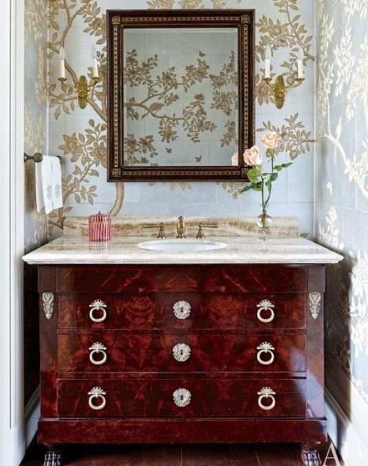 Gracie Powder Room via AD