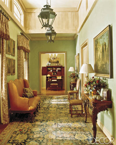 Green Hallway in Charlotte Moss' ASpen Home