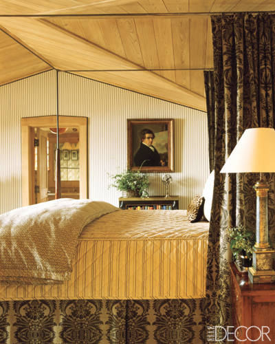 Guest room in Charlotte Moss' Aspen Home