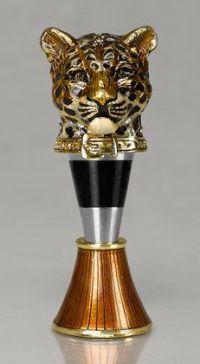 Leopard Jay Strongwater wine stopper
