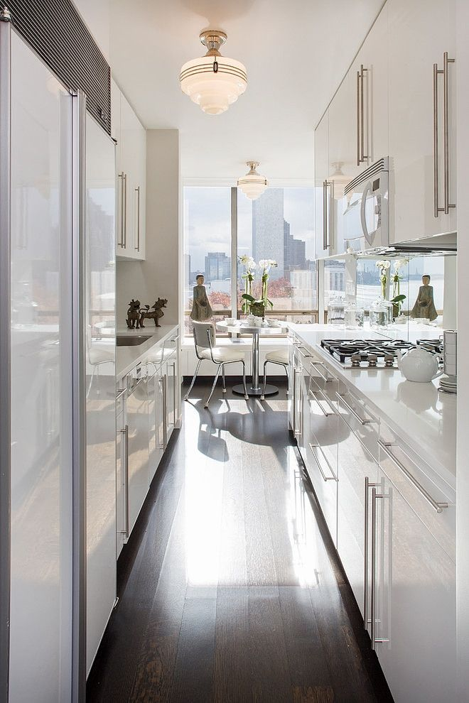 Small spaces the potted boxwood - Manhattan kitchen design ...