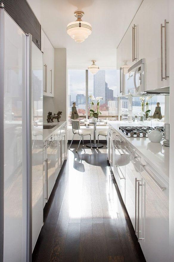 Manhattan Sleek Kitchen by Smith Firestone Associates via Home Adore