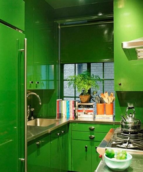 Miles Redd small green kitchen