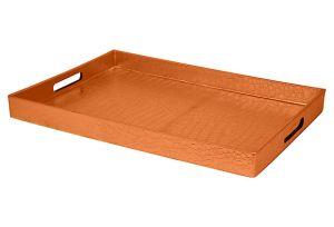 OKL Faux Orange Croc Tray