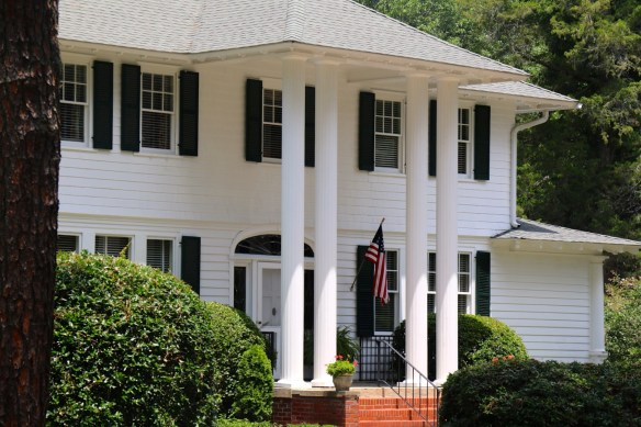 White house with large columns in Pinehurst