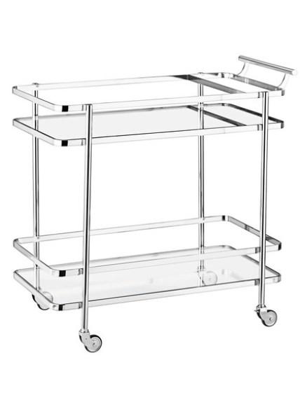 Williams Sonoma Steel Plated Bar Cart
