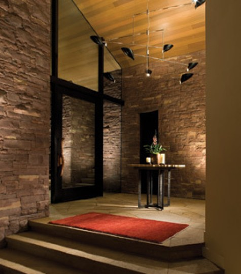 Zen Entry in Aspen Home