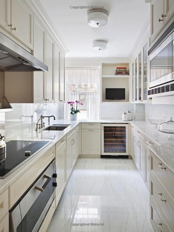 Small kitchens big design the potted boxwood for Large galley kitchen designs