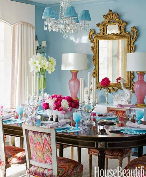 A Colorful Dining Area via House Beautiful
