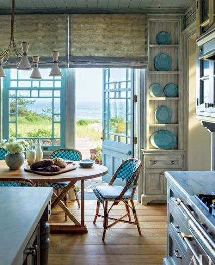 A Hamptons Kitchen by Steven Gambrel via AD