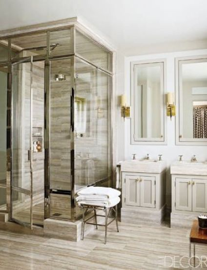 Bathroom by Steven Gambrel via Elle Decor