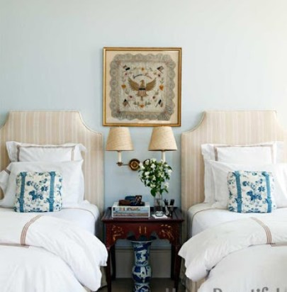 Classic Twin Bedroom via HB