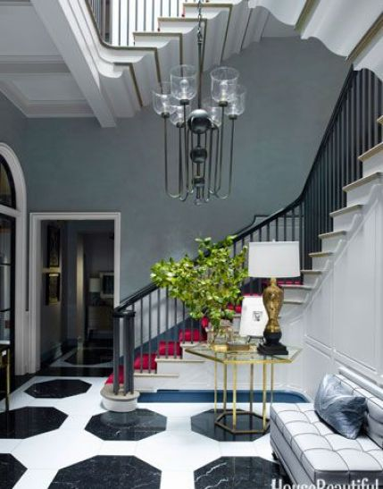 Foyer of Chicago TOwnhouse by Steven Gambrel via HB