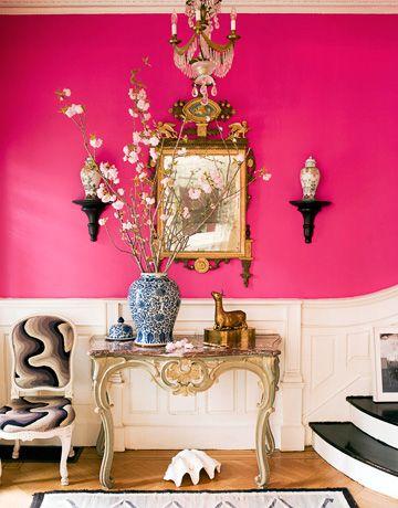 Jonathan Berger Pink Foyer via HB
